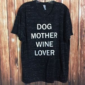 Bella Canvas LG Dog Mother Wine Lover Graphic Tee